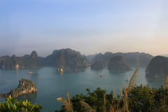 Halong Bay. The landscape of Halong Bay - Vietnam royalty free stock image