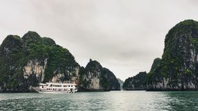 Halong Bay Cruise royalty free stock photos
