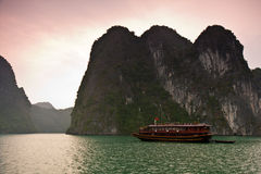Halong Bay Dawn stock image