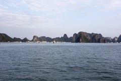 Halong Bay full of boat cruising Royalty Free Stock Images