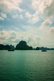 Halong Bay. Junk boats on Halong Bay, Vietnam Stock Image