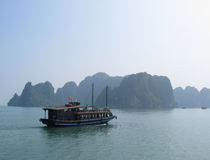 Halong Bay Junk Cruise Royalty Free Stock Photos