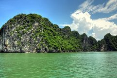 Halong Bay Landscape. Geologic formations known as karst at Halong Bay in Vietnam Stock Images