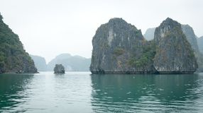 Halong Bay limestone formations Royalty Free Stock Photo