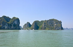 Halong bay-limestone mountains, Vietnam Royalty Free Stock Images