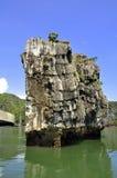 Halong Bay, Limestone Rock Royalty Free Stock Photo