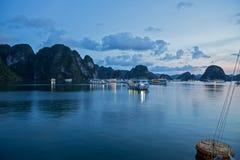 Halong Bay by night, Vietnam Royalty Free Stock Photo