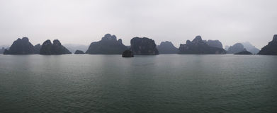 Halong bay panorama Stock Photo