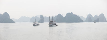 Halong Bay panorama Royalty Free Stock Image