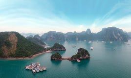 Halong Bay Panorama, Vietnam Royalty Free Stock Image