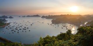 Halong Bay panorama Royalty Free Stock Photography