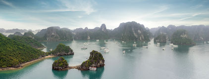 Halong Bay panorama, Vietnam Stock Image