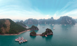 Halong Bay panorama, Vietnam Royalty Free Stock Image
