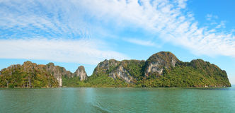 Halong Bay Panorama, Vietnam Travel Stock Image