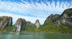 Halong Bay Panorama, Vietnam Travel Stock Photography