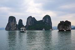 Halong bay in Quangninh, Vietnam.  Royalty Free Stock Images