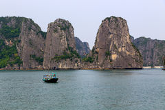 Halong bay in Quangninh, Vietnam.  Stock Photography