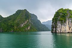 Halong bay Rocky islands the emerald waters of Ha Long Bay, UNESCO World Heritage Site. Vietnam stock images