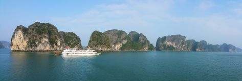 Halong Bay - Royal Wings Cruise, Panoramic View Royalty Free Stock Image
