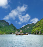 Halong Bay Scene. Bay of the descending Dragon in Vietnam Stock Images