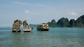Halong bay scenery Royalty Free Stock Photography