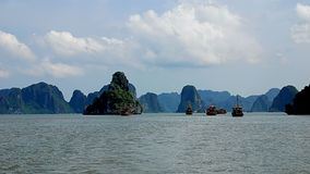 Halong bay scenery Royalty Free Stock Images
