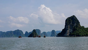Halong bay scenery Stock Photography