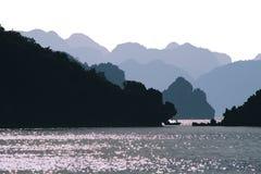 Halong Bay sunset Stock Images