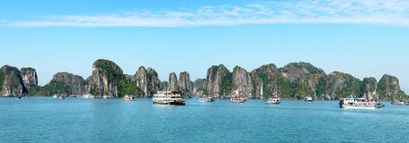 Halong Bay, Tourist Boats, Vietnam Royalty Free Stock Photography