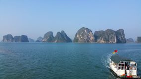 Halong Bay - Victory Star`s ferry Stock Photos