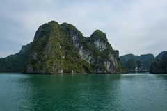 The Halong Bay in Vietnam. stock photography