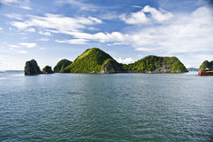 Halong Bay, Vietnam. Unesco world protected Site royalty free stock photography