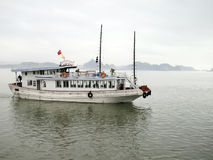 Halong Bay, Vietnam. Tourist Boat in Halong Bay, Vietnam Royalty Free Stock Images