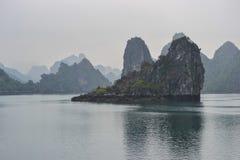 Halong Bay, Vietnam. Limestone rocks in Halong Bay, Vietnam Stock Photo