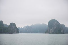 Halong bay, Vietnam mar 13:: Numerous islands at Halong Bay on M Royalty Free Stock Images