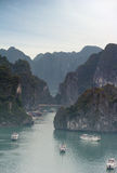 Halong Bay Vietnam natural landscape background Stock Photos