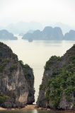 Halong Bay Vietnam natural landscape background Royalty Free Stock Photo