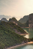 Halong Bay Vietnam natural landscape background Royalty Free Stock Photos