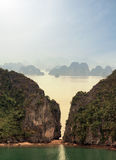 Halong Bay Vietnam natural landscape background Royalty Free Stock Images