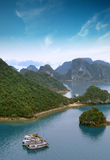 Halong bay Vietnam panoramic view royalty free stock images