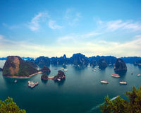 Halong bay Vietnam panoramic view Stock Image