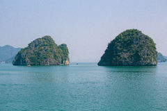 Halong Bay in Vietnam stock photography
