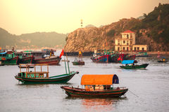 Halong. Bay,Vietnam at sunset royalty free stock photography