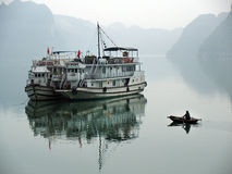 Halong Bay, Vietnam. Unesco World Heritage Site. Most popular pl Royalty Free Stock Photos