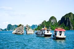 Halong Bay, Vietnam. Unesco World Heritage Site. Most popular place in Vietnam Stock Photos