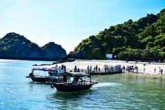 Halong Bay, Vietnam. Unesco World Heritage Site. Most popular place in Vietnam Stock Image
