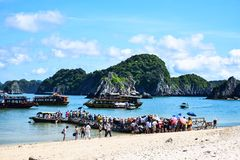 Halong Bay, Vietnam. Unesco World Heritage Site. Most popular place in Vietnam Royalty Free Stock Photography