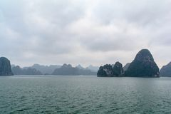 HALONG bay in vietnam royalty free stock image