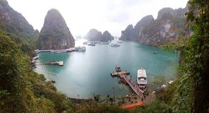 Halong Bay. View of halong bay from bo hon island royalty free stock image