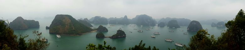 Halong Bay. View of Halong Bay from Tip To Island royalty free stock photo